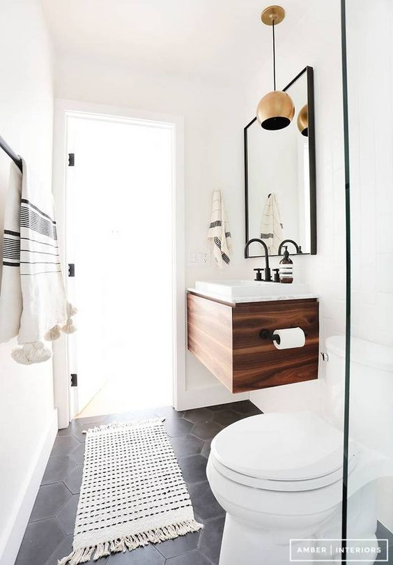 Small space modern bathroom designs