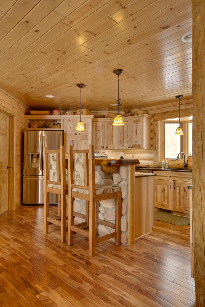 Rustic wooden kitchen design