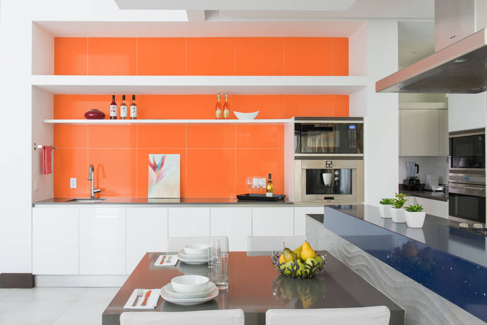 Orange decorative pastel wall decor