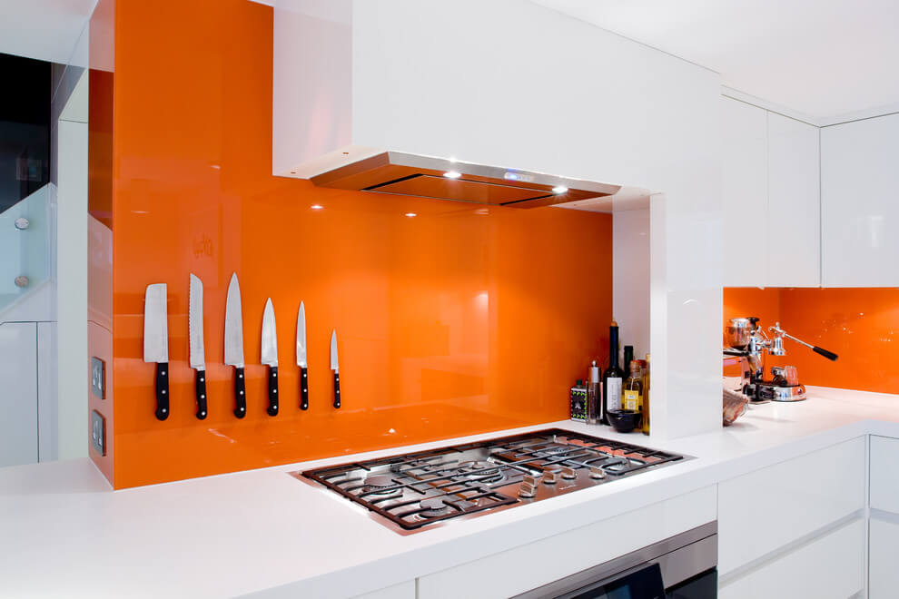 High Gloss Kitchen Backsplash