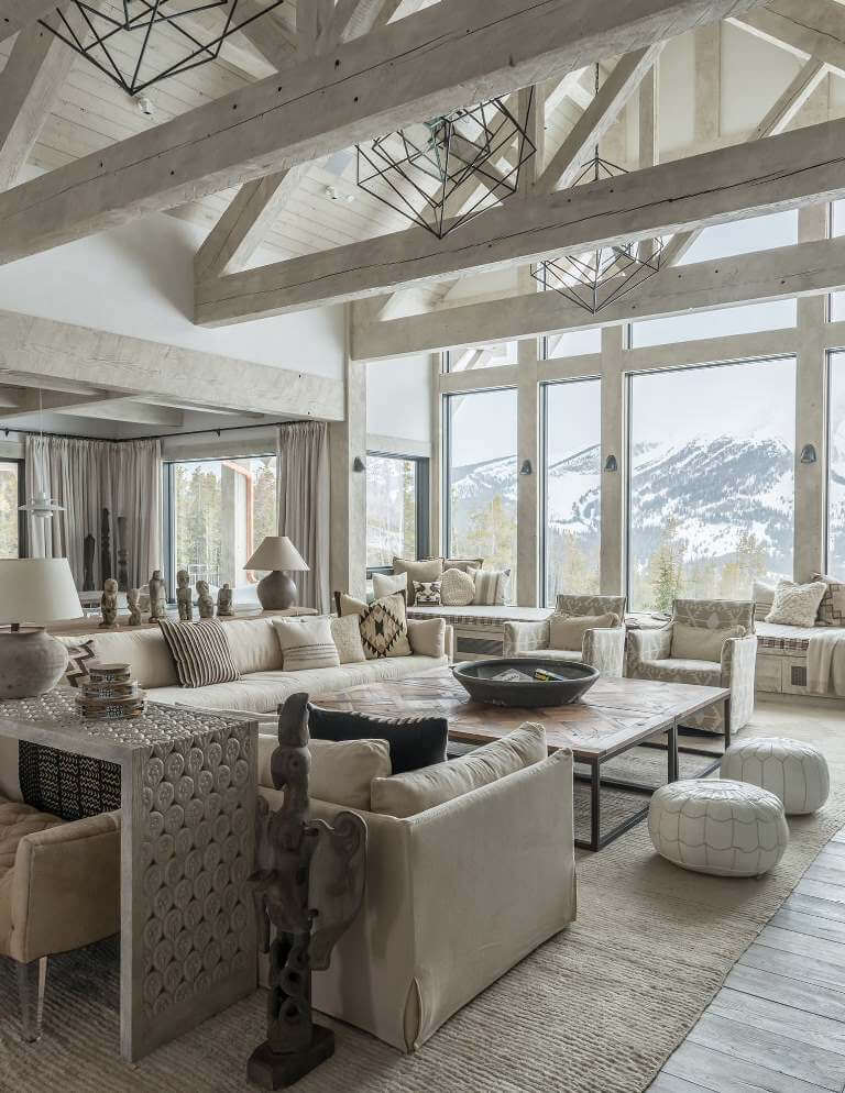 Rustic Neutral Living Room Design