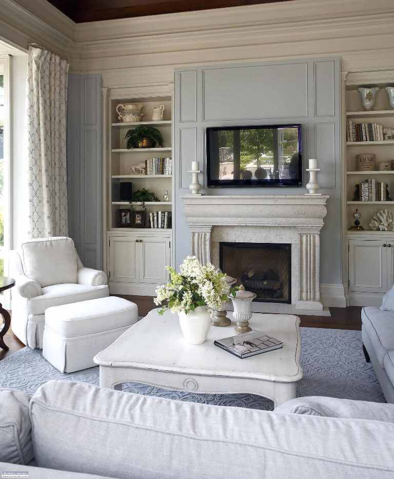Soft pastel colors in interiors