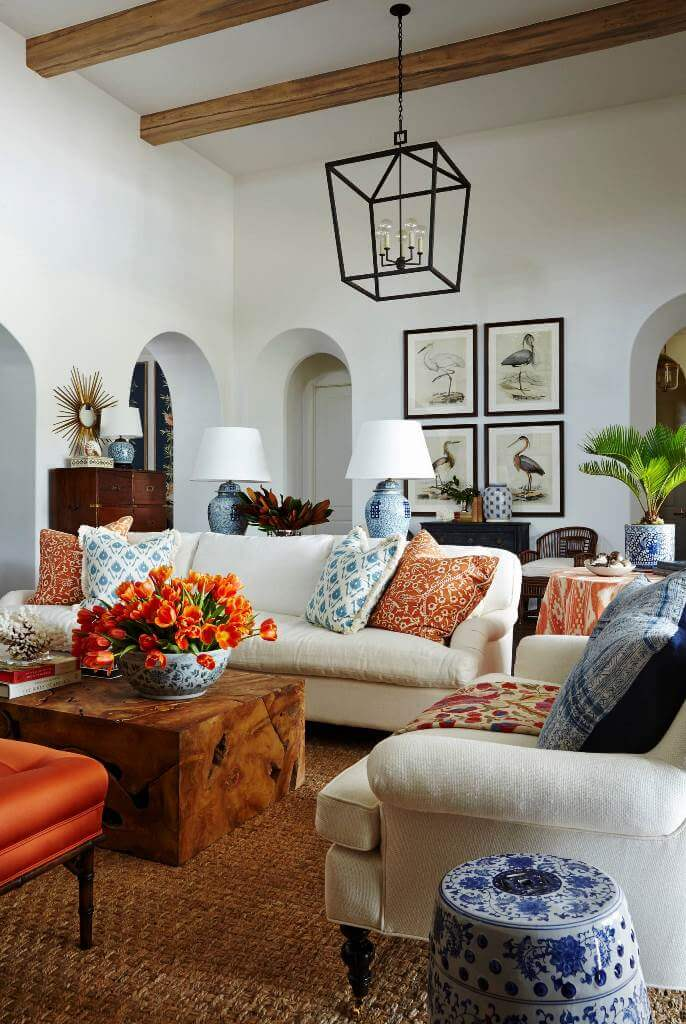 Eclectic details in traditional decor