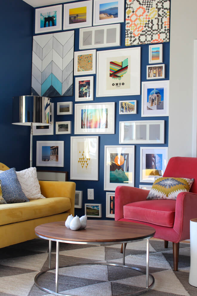 Wall Art Gallery In Living Room