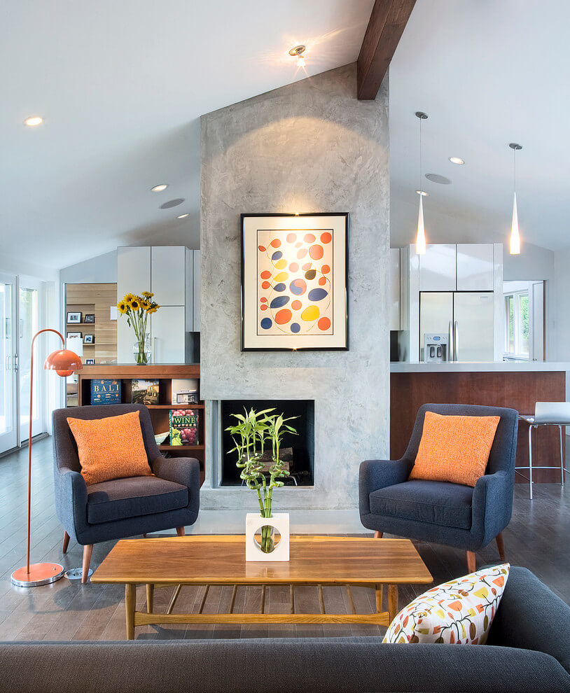 Textures and colors in the living room
