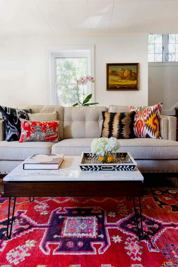 Bohemian Touch In Mid Century Decor