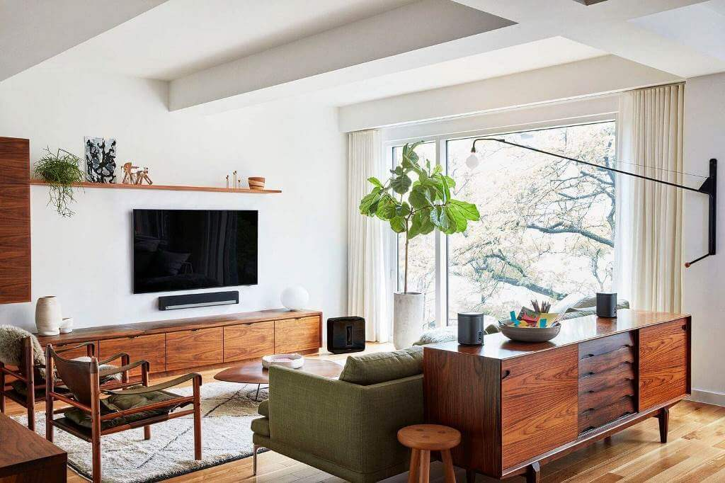 Natural elements of mid-century interiors