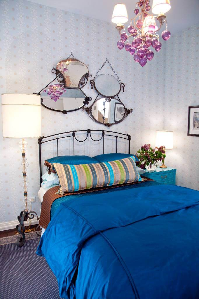 Eclectic bedroom with vintage decor