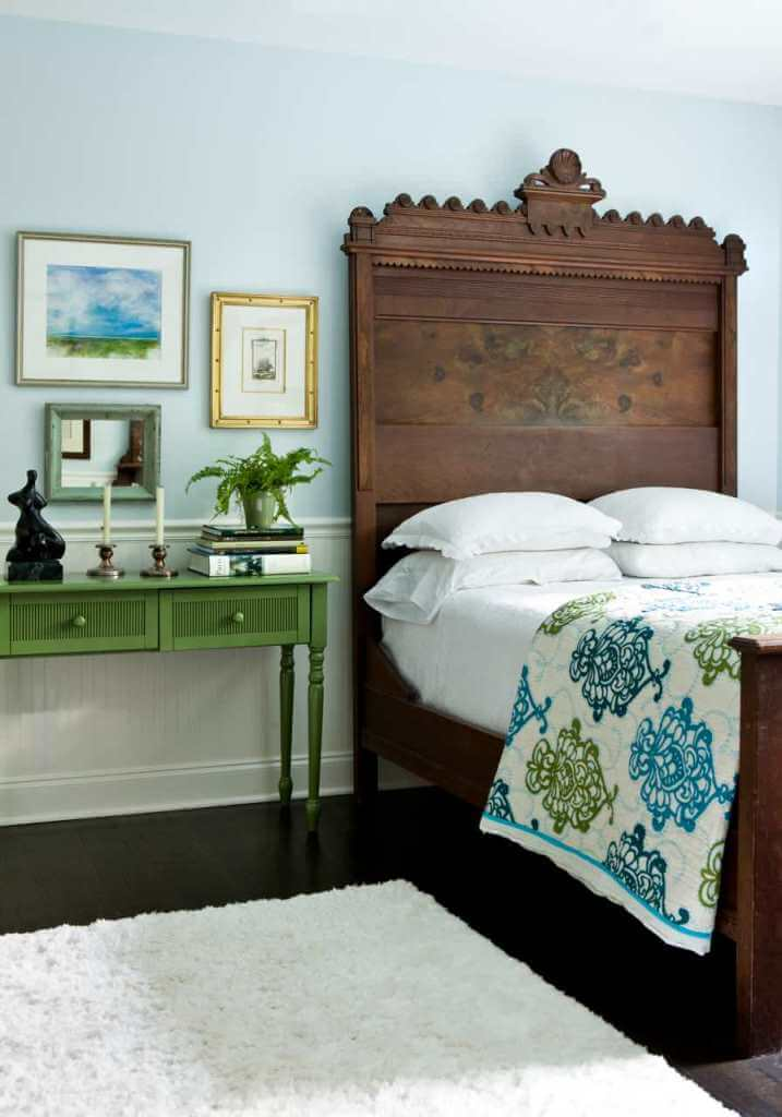 Antique bedroom with simple decor