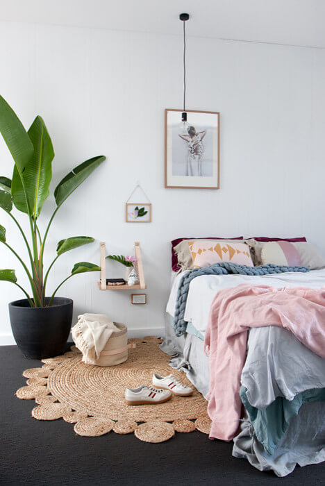 Vibrant Scandinavian Minimal Bedroom