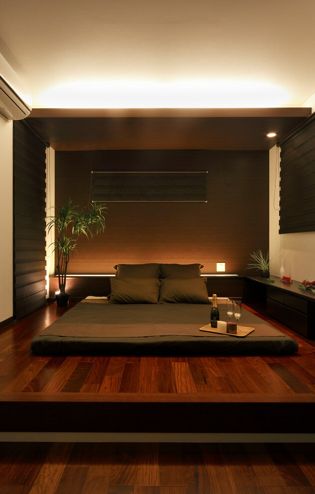 Glamorous bedroom Dark decor