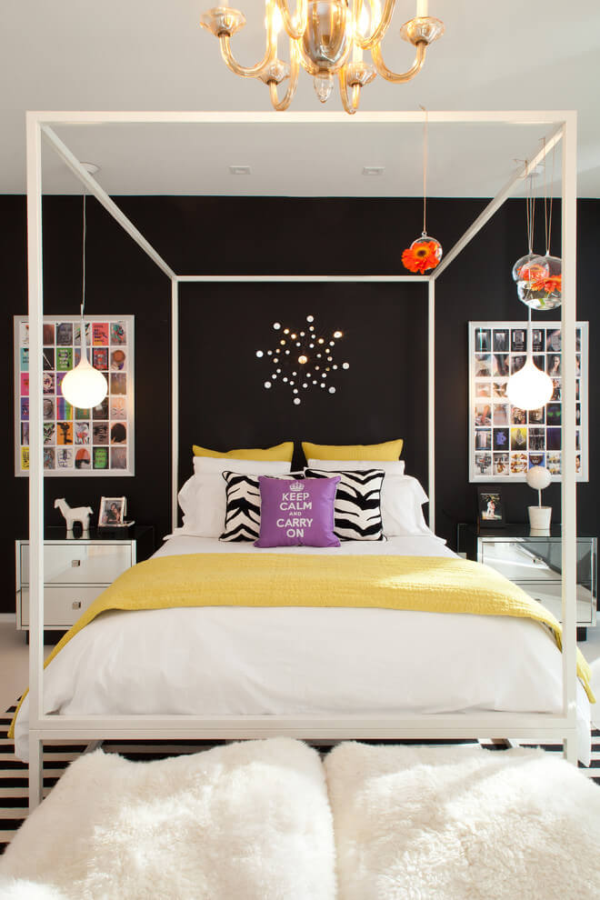 Cheerful bedroom with colorful accents