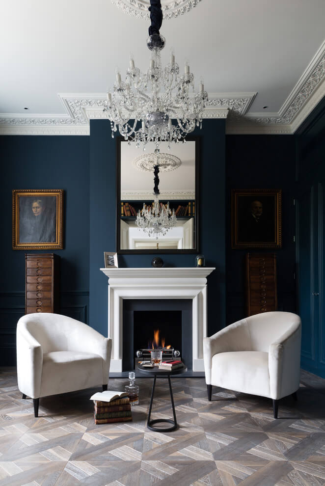 Victorian Living Room Dark Walls