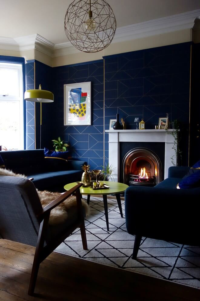 Fantastic blue patterned wall decor