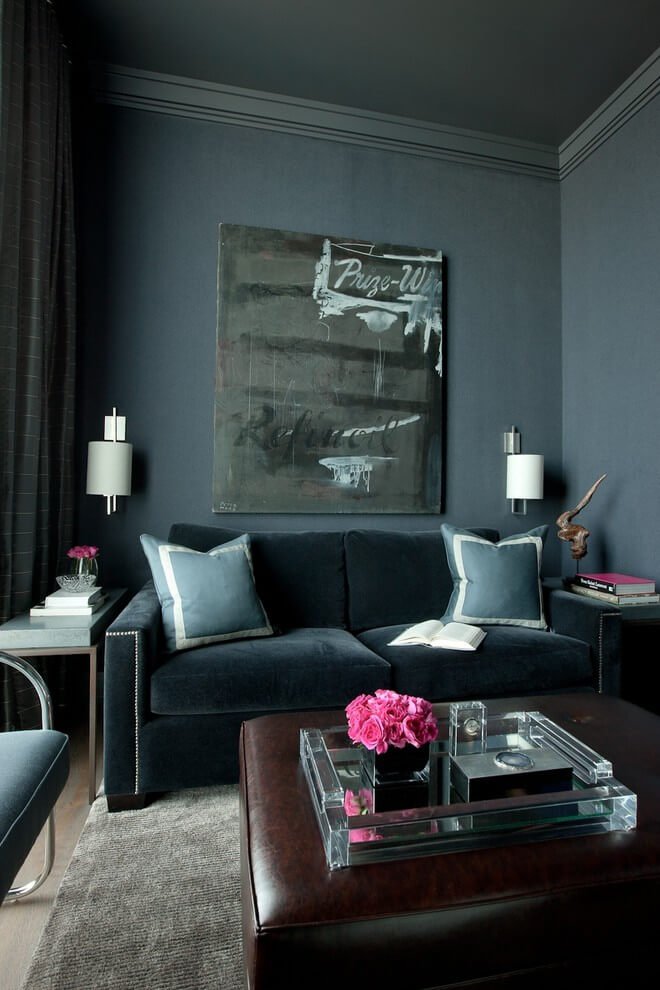 Luxury Living Room Dark Textures