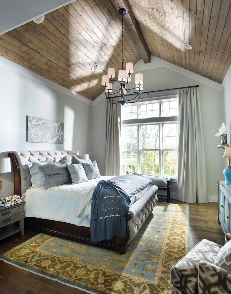 Vaulted Cache Simple Bedroom Decor
