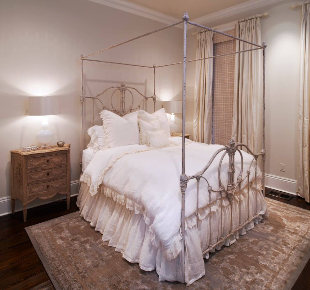 French bedroom with shabby chic style