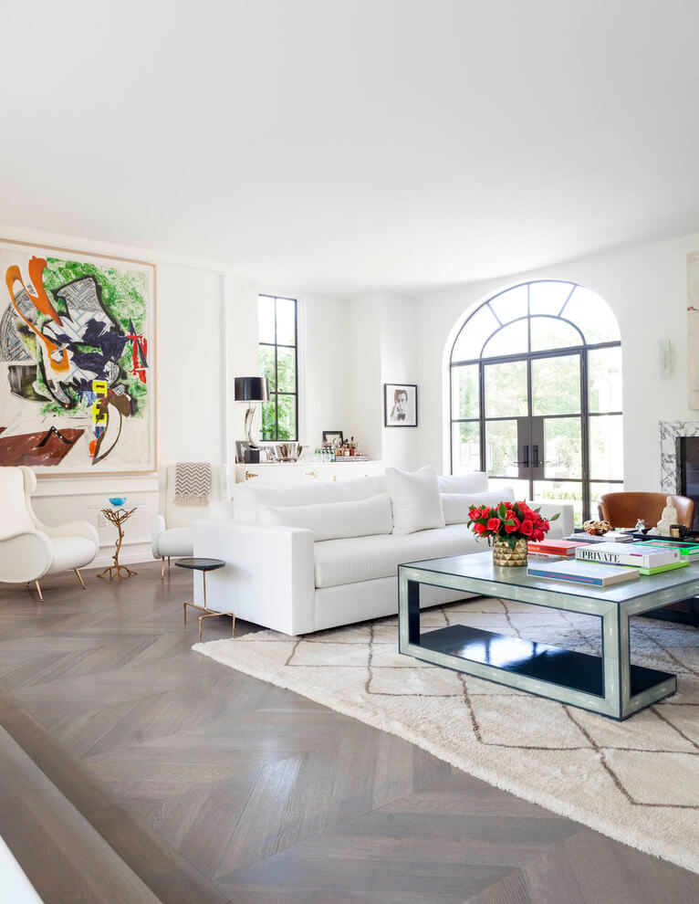 Spacious and white room design