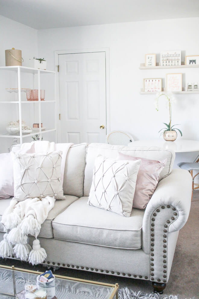 Blush Pink Accents Room Decor