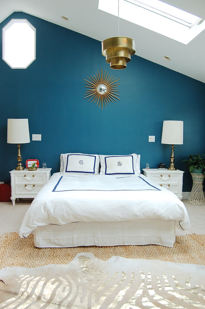 Beach colors casual bedroom decor
