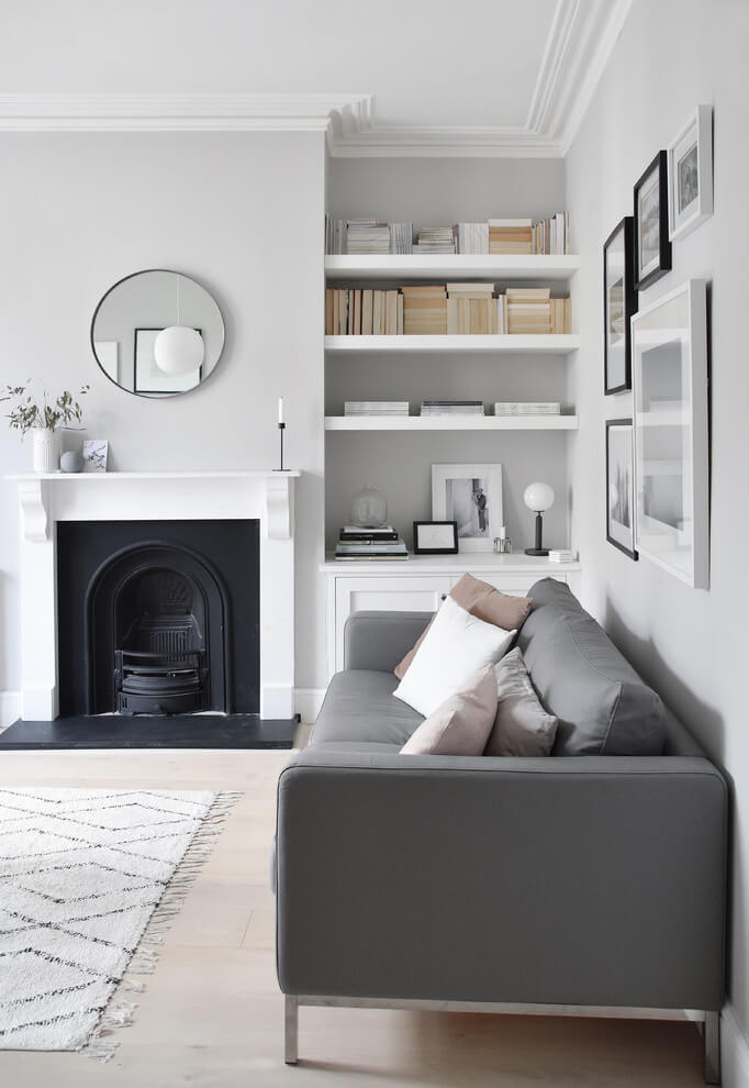 Compact gray everyday decor