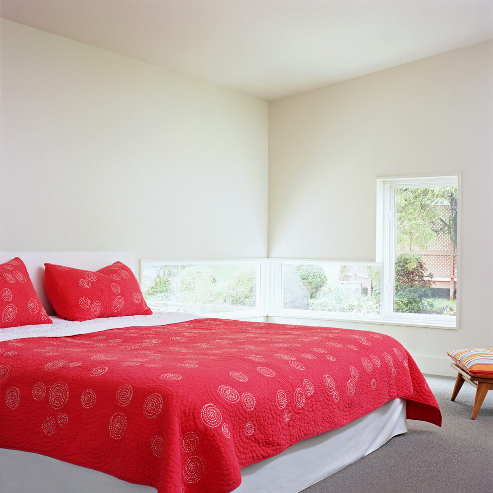 Unique design bright modern bedroom