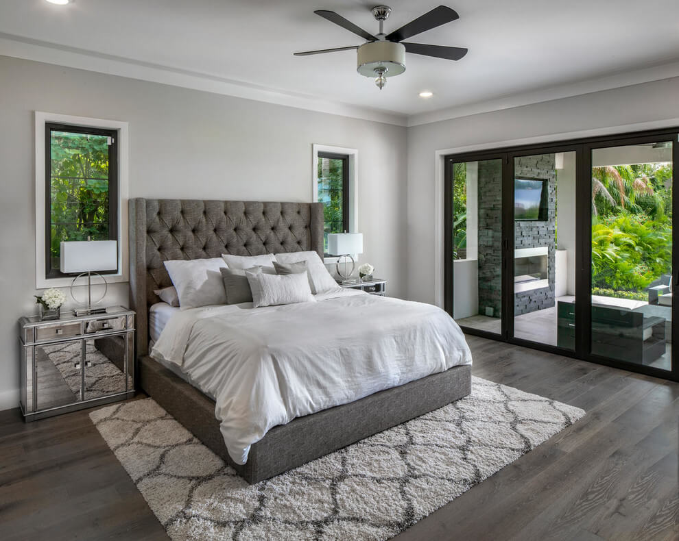 Grayscale modern bedroom