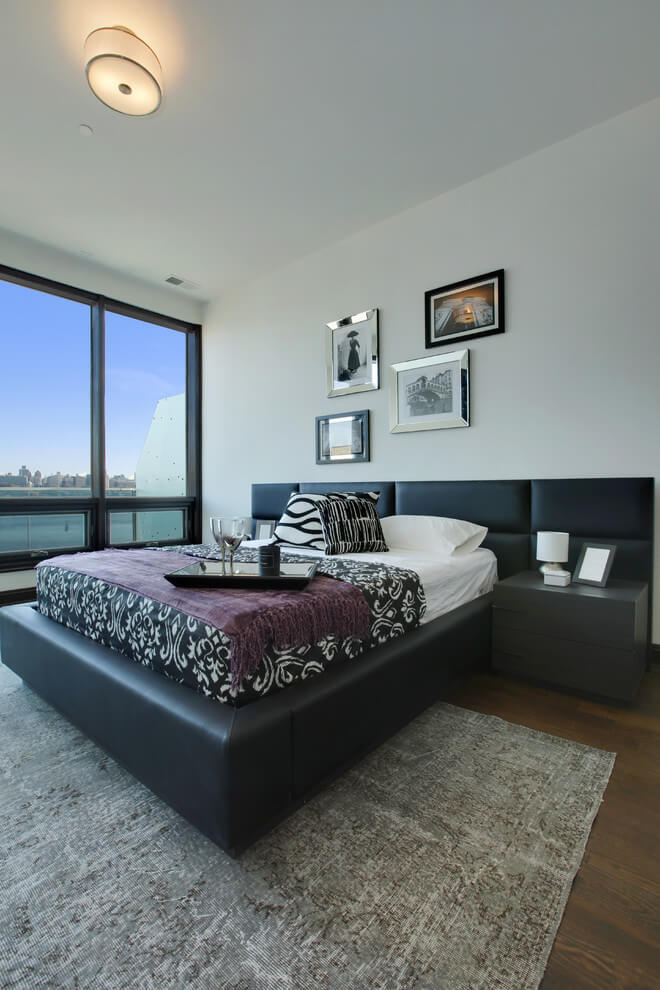 Elegant and comfortable design modern bedroom