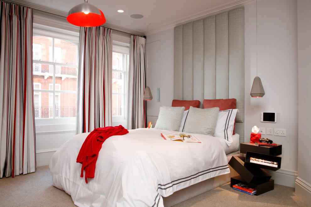 Red Details Modern bedroom decor
