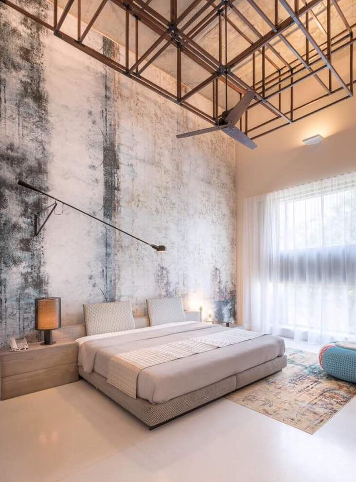Modern industrial bedroom decor