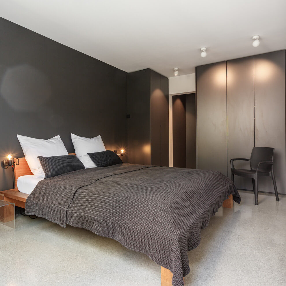 Black accent wall modern decor