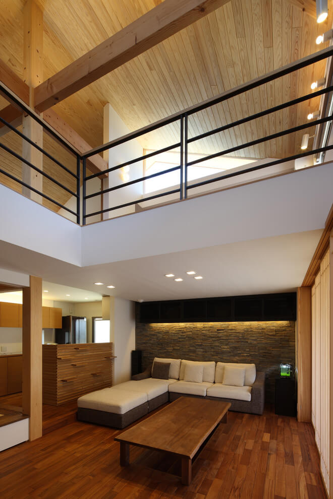 Simple natural element living room