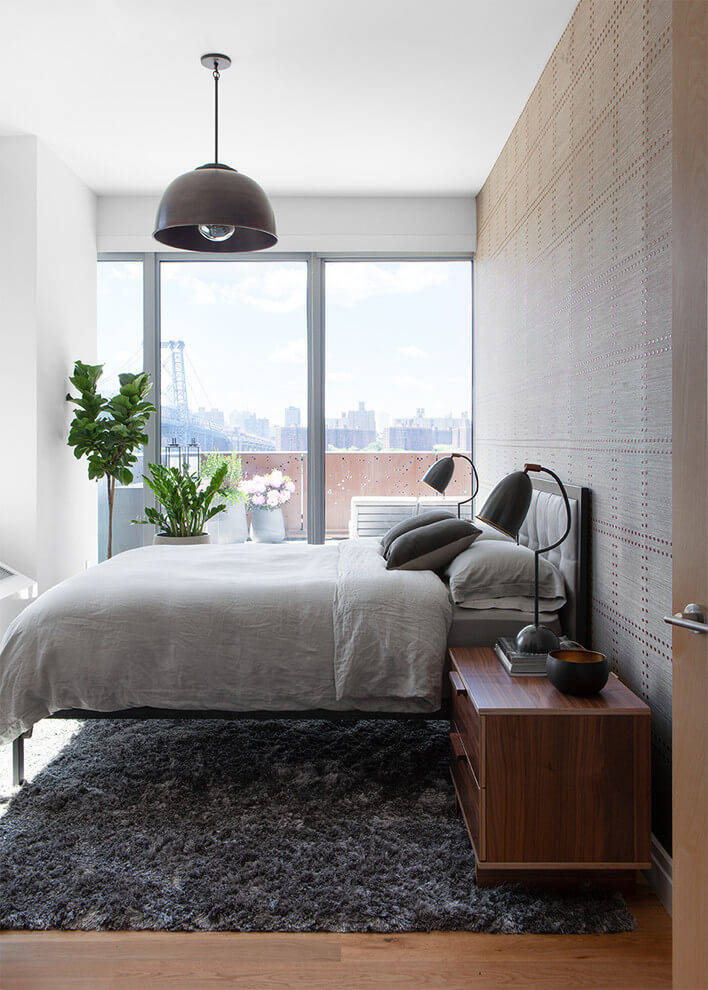 Modern touch industrial bedroom