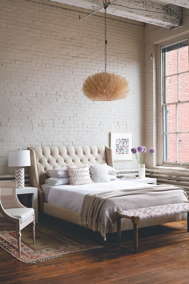 Simple industrial style for simple bedrooms