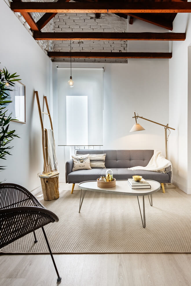 Industrial Touch Nordic Living Room