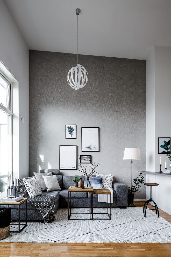 Accent Wall Gray Room Decor