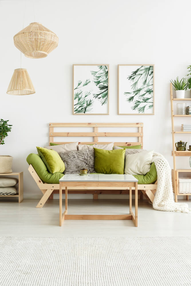 Natural Touch Living Room Design