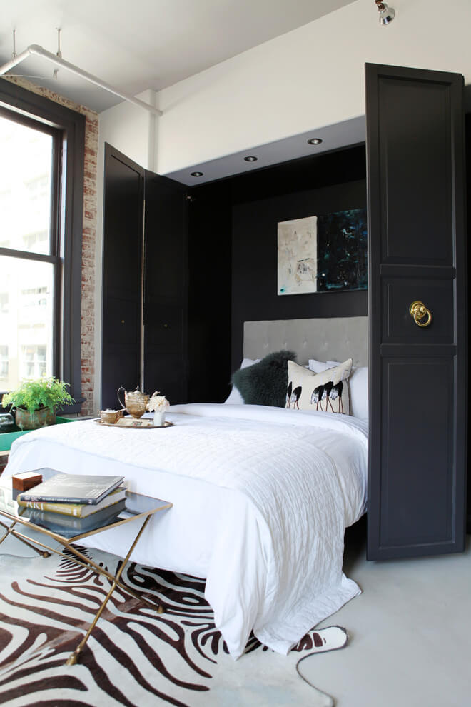 Murphy Bed Sofisticated Chic Bedroom