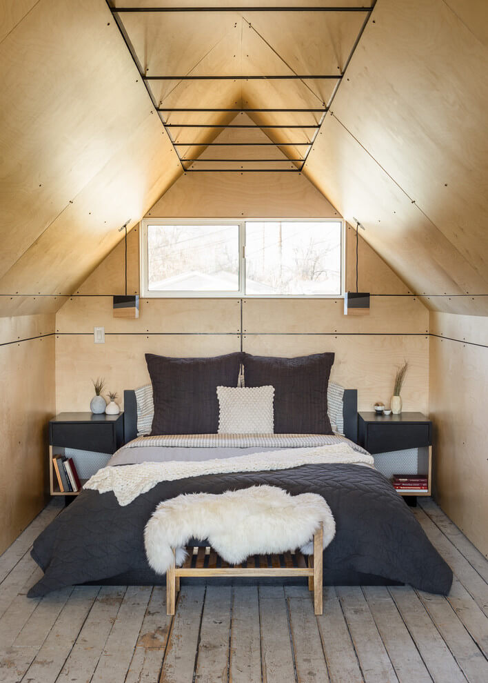 Industrial Style Small Space Bedroom