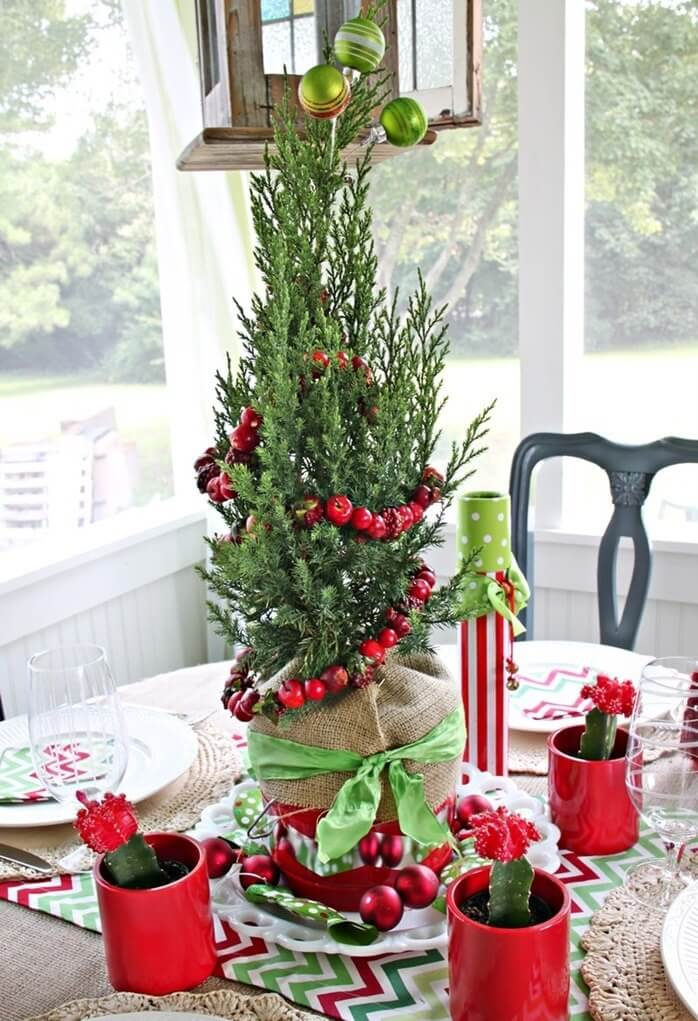 Christmas Centerpiece Red And Green