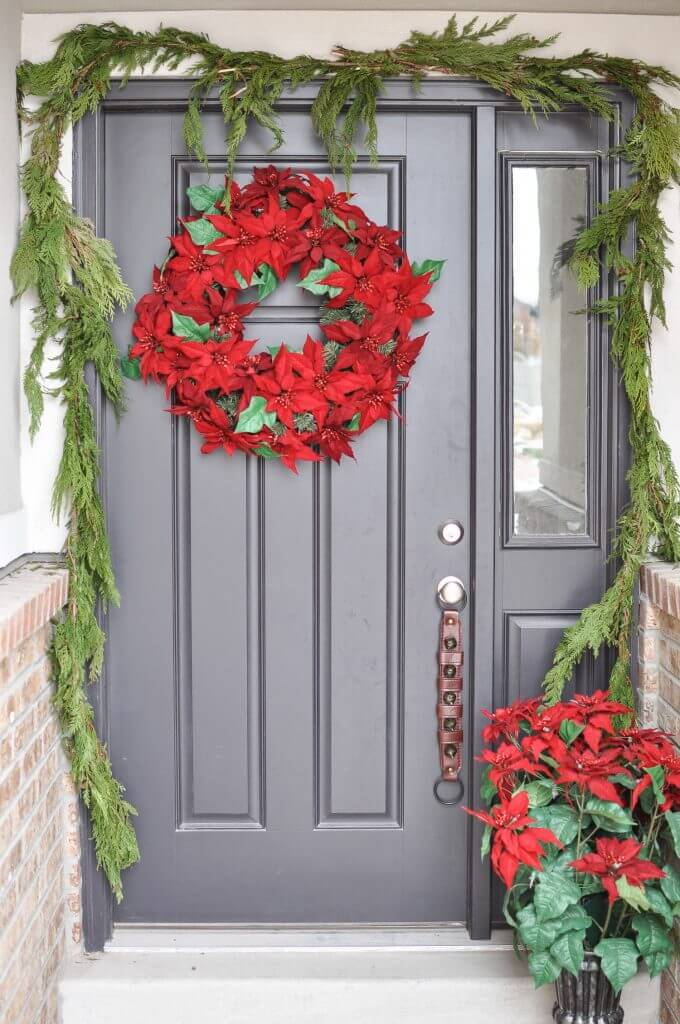Classic natural porch for Christmas