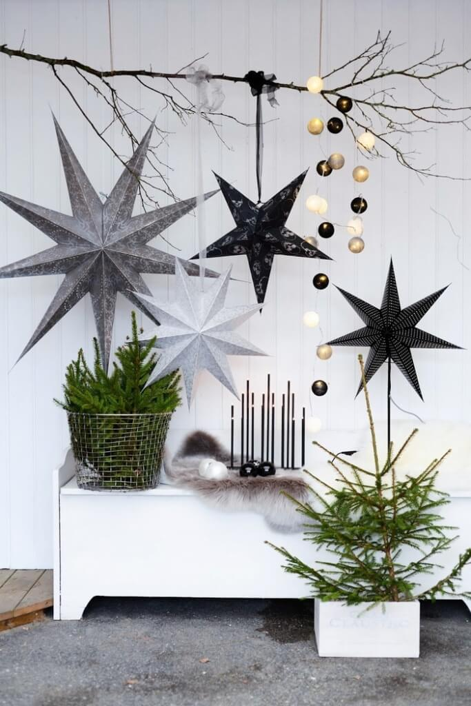 Scandinavian style Christmas decor