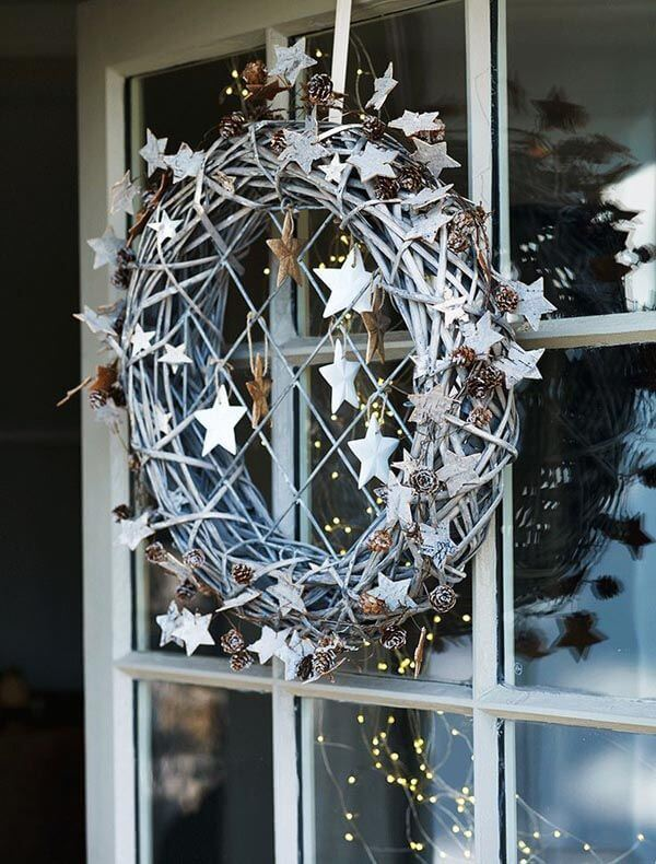 Attractive stars wreath decoration