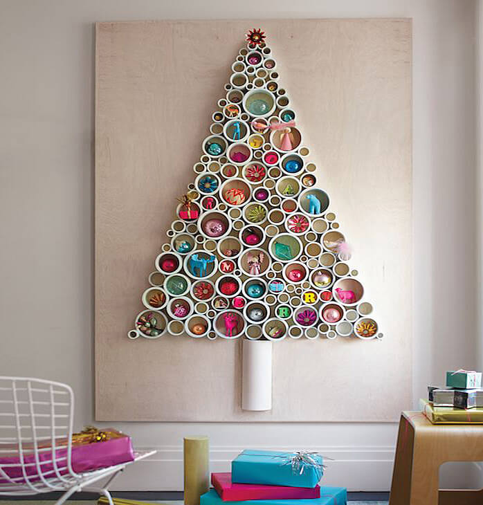 PVC pipe wall Christmas tree