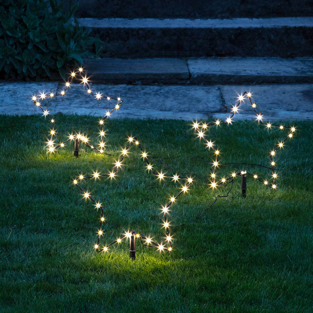 Christmas Stars Garden Stake Lights