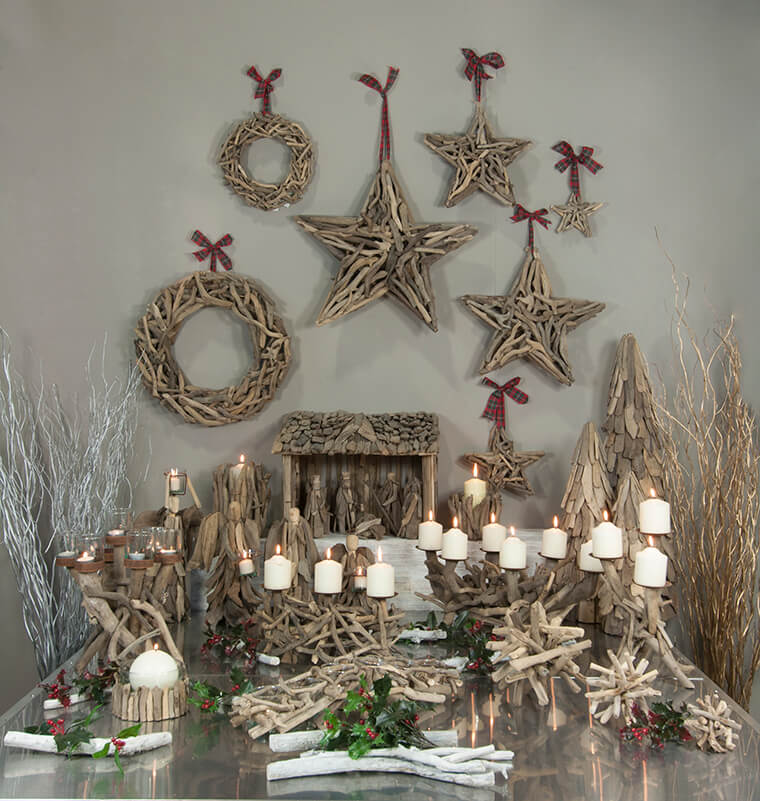 Driftwood Stars Rustic Wall Decor