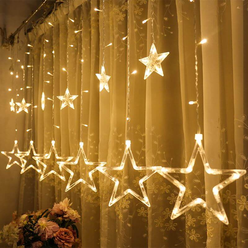 Star Lights Christmas Window Decor