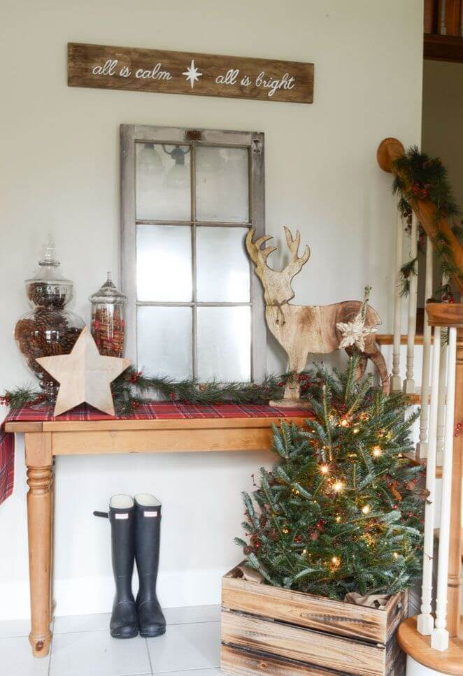 Rustic Christmas run table