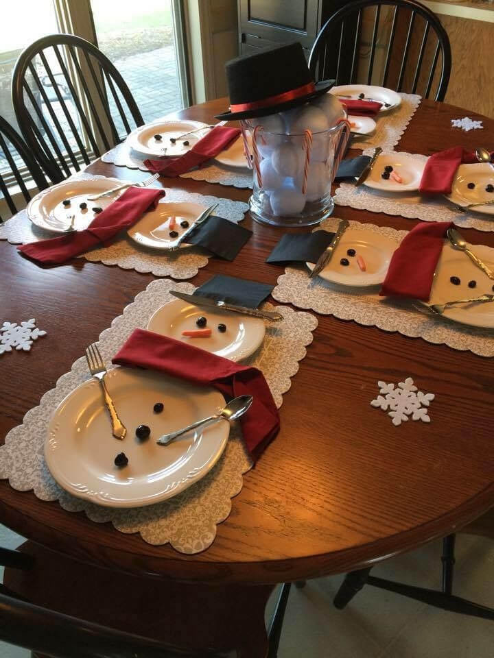 Snowman Winter Christmas Table
