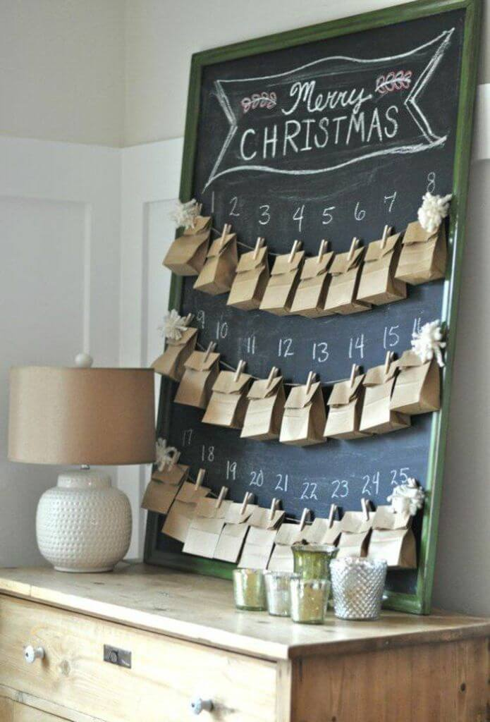 DIY Advent Calendar Table Decor